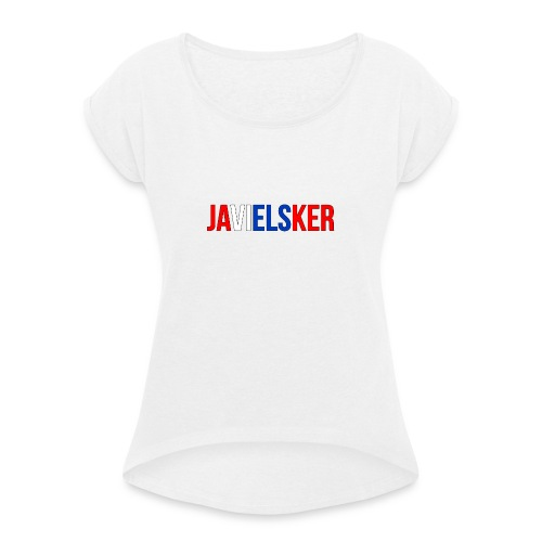 JAVIELSKER - Women's T-Shirt with rolled up sleeves