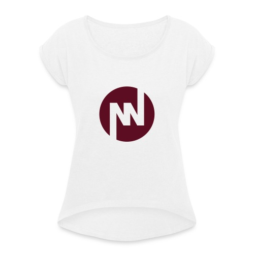 nniflogotype - T-shirt med upprullade ärmar dam