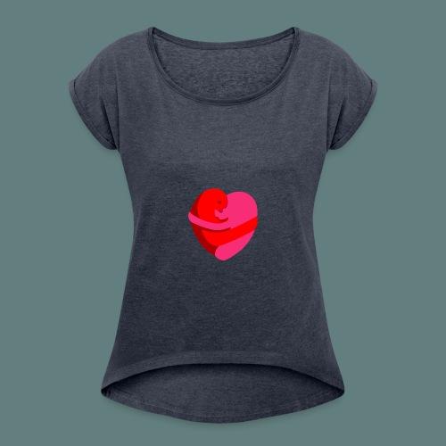 hearts hug - Maglietta da donna con risvolti