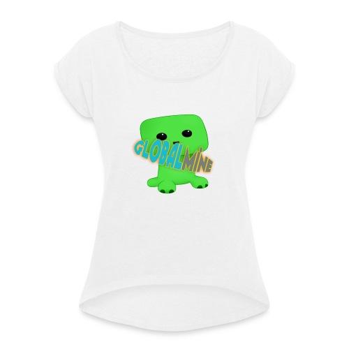 GlobalMine Creeper - Maglietta da donna con risvolti