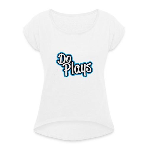 Gymtas | Doplays - Vrouwen T-shirt met opgerolde mouwen