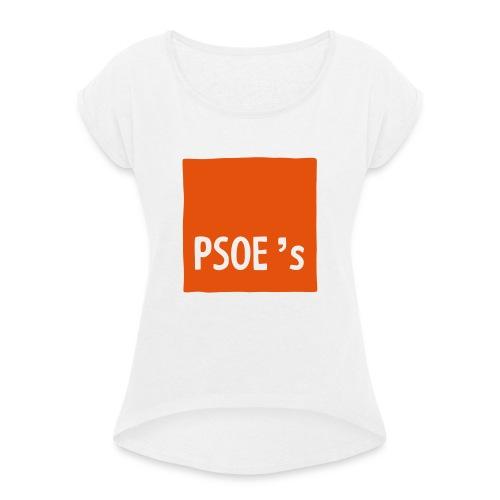 PSOEs - Camiseta con manga enrollada mujer