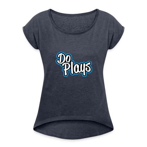 Muismat   Doplays - Vrouwen T-shirt met opgerolde mouwen