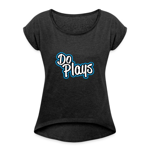 Mannen Baseball | Doplays - Vrouwen T-shirt met opgerolde mouwen