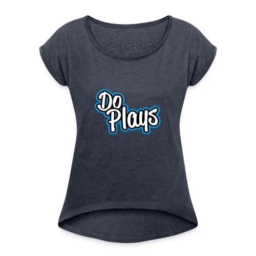 Mannen Baseball   Doplays - Vrouwen T-shirt met opgerolde mouwen