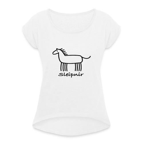 Sleipnir - T-shirt med upprullade ärmar dam