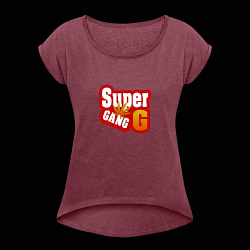 SuperG-Gang - Dame T-shirt med rulleærmer
