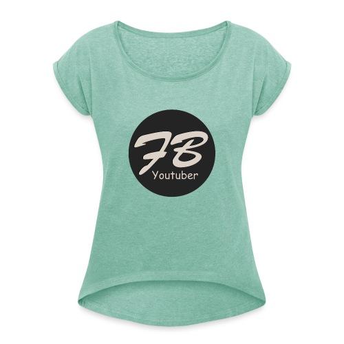 TSHIRT-YOUTUBER - Vrouwen T-shirt met opgerolde mouwen