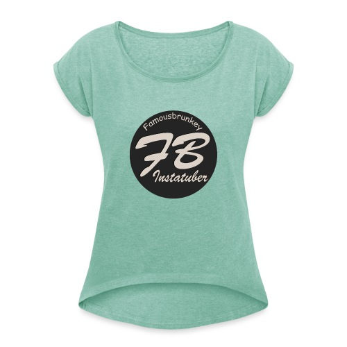 TSHIRT-YOUTUBER-EXTRA - Vrouwen T-shirt met opgerolde mouwen