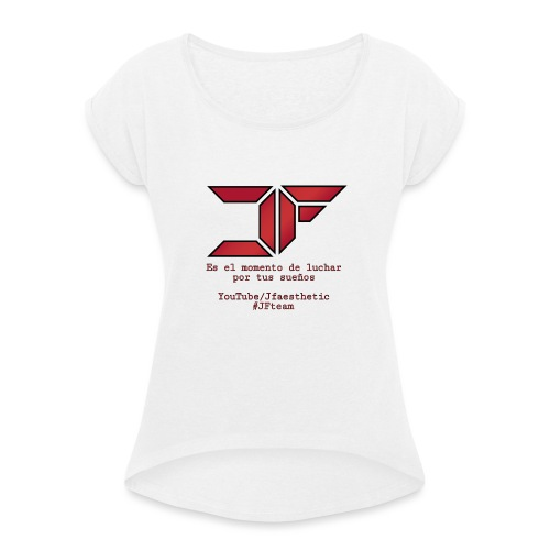 JF White Men - Camiseta con manga enrollada mujer