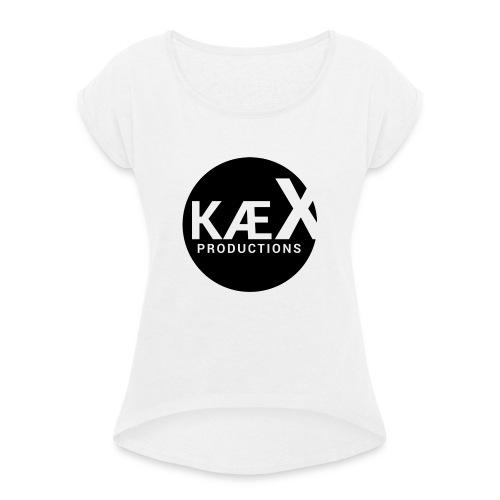 Kæx Hvit Hettegenser - T-skjorte med rulleermer for kvinner