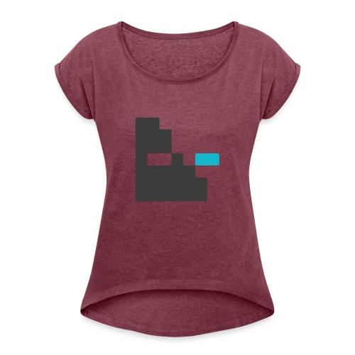 Mortu Logo - Vrouwen T-shirt met opgerolde mouwen