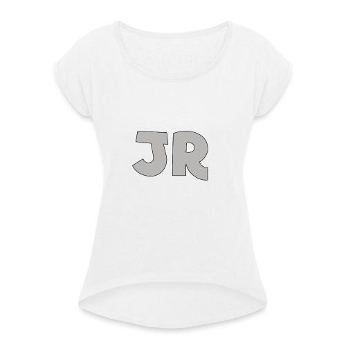 JustRobin Hoodie Mannen! - Vrouwen T-shirt met opgerolde mouwen