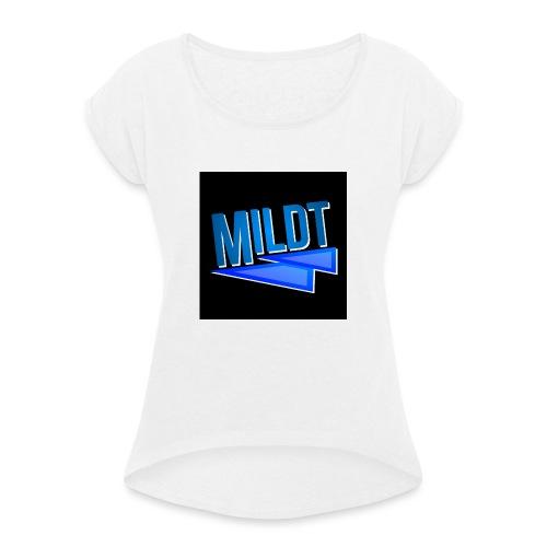 MILDT Muismat - Vrouwen T-shirt met opgerolde mouwen
