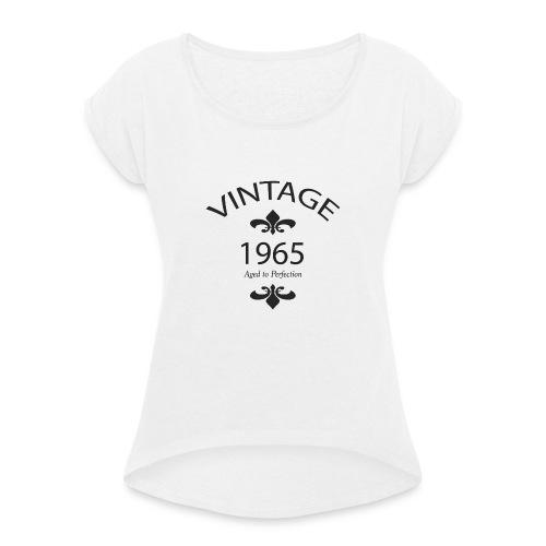 Vintage 1965 Aged to Perfection - Maglietta da donna con risvolti
