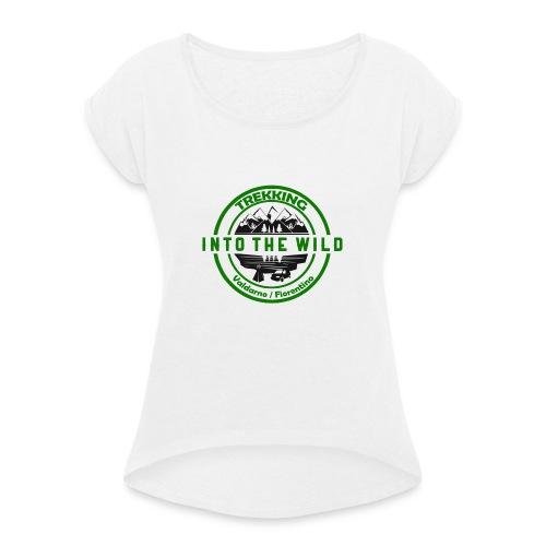 Into The Wild Trekking T-Shirt Donna - Maglietta da donna con risvolti