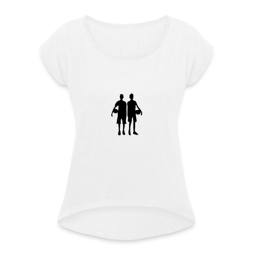 2Dudes - Women's T-Shirt with rolled up sleeves