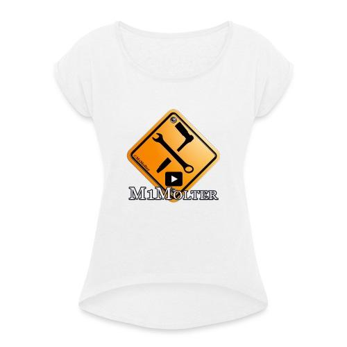 M1Molter Logo - Frauen T-Shirt mit gerollten Ärmeln