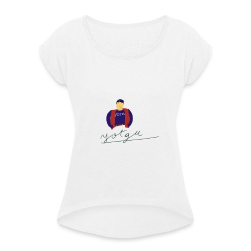 yotgu - T-shirt à manches retroussées Femme