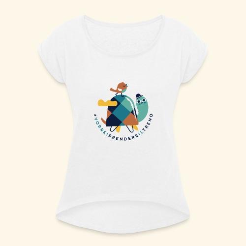 Tartaruga e uccellino - Maglietta da donna con risvolti