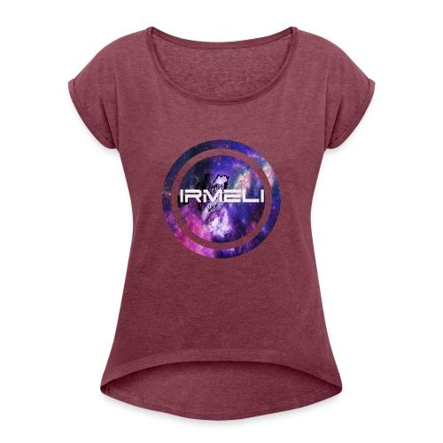 GALAXY LOGO - Naisten T-paita, jossa rullatut hihat