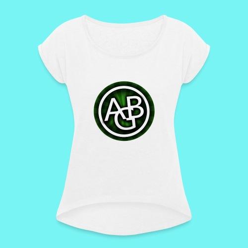 AustrianGamingBrothers Kollektion 2 - Frauen T-Shirt mit gerollten Ärmeln