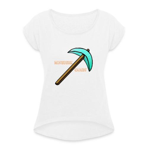 MineBerk Games Logo - Vrouwen T-shirt met opgerolde mouwen