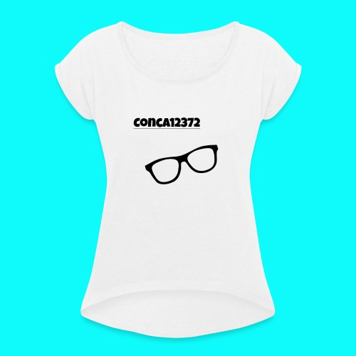 Conca12372 - Women's T-Shirt with rolled up sleeves