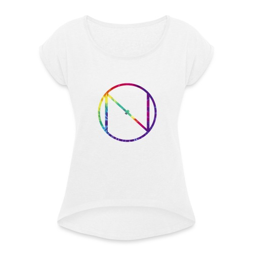 Tye Die Logo - Women's T-Shirt with rolled up sleeves