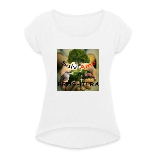 t-shirt SalviAmo (logo non originale) - Maglietta da donna con risvolti