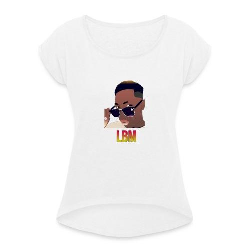 Logo et écriture Lbm - T-shirt à manches retroussées Femme