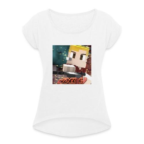 Noel W Profil - Frauen T-Shirt mit gerollten Ärmeln