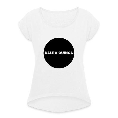 KALE & QUINOA - Koszulka damska z lekko podwiniętymi rękawami