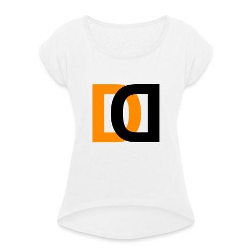 Dutch Driveclub logo oranje zwart transparante ach - Vrouwen T-shirt met opgerolde mouwen