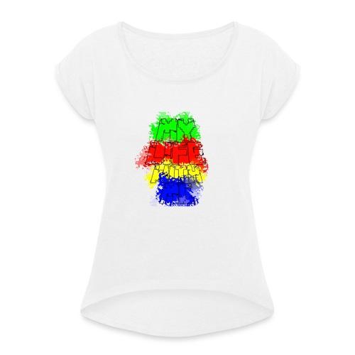 Den Officielle My Life With Minecraft Logo - Dame T-shirt med rulleærmer