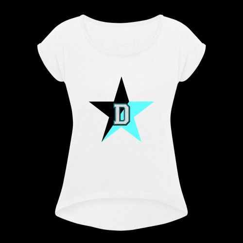 NoBeatGaming Logo - Women's T-Shirt with rolled up sleeves
