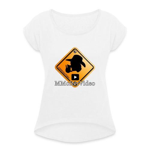 Logo MMolterVideo - Frauen T-Shirt mit gerollten Ärmeln