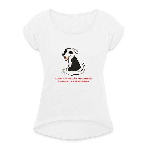 Aforisma cinofilo - Maglietta da donna con risvolti