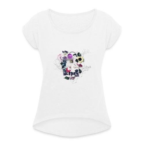 Spring-3D - Frauen T-Shirt mit gerollten Ärmeln