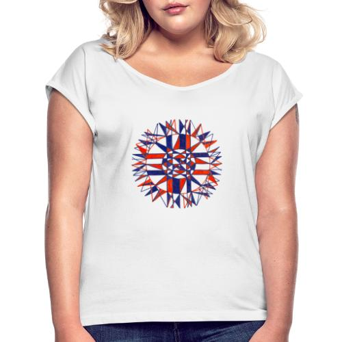 Cycles of Time - Women's T-Shirt with rolled up sleeves