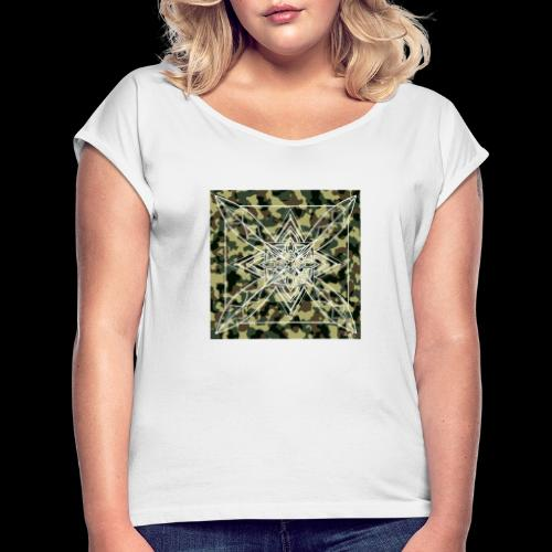 CamoDala - Women's T-Shirt with rolled up sleeves