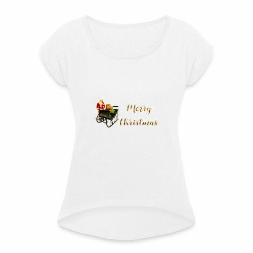 Merry Christmas - T-shirt à manches retroussées Femme