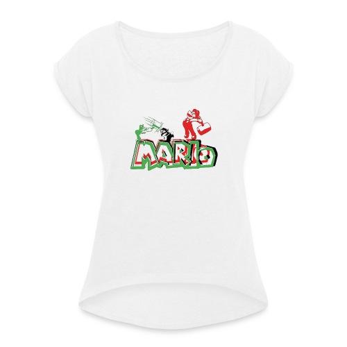 Mario y Luigi - Camiseta con manga enrollada mujer