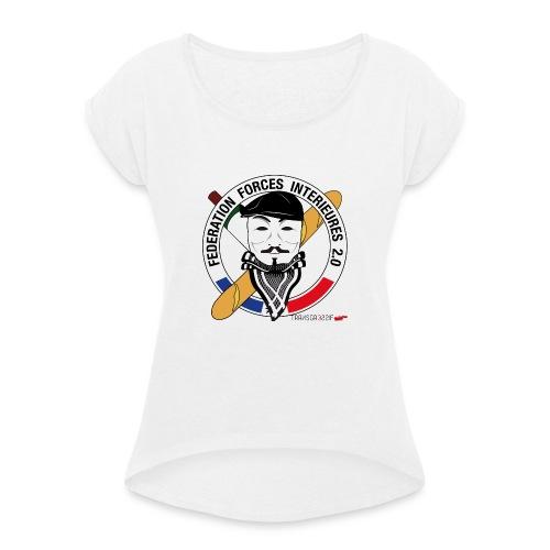 FFi Anonymous - T-shirt à manches retroussées Femme