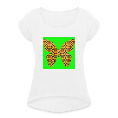 African design - T-shirt à manches retroussées Femme