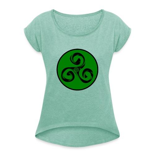 Triskel and Spiral - Camiseta con manga enrollada mujer