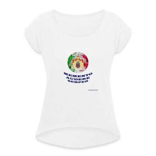 MEMENTO AUDERE SEMPER - Maglietta da donna con risvolti