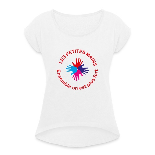 Les petites mains - T-shirt à manches retroussées Femme