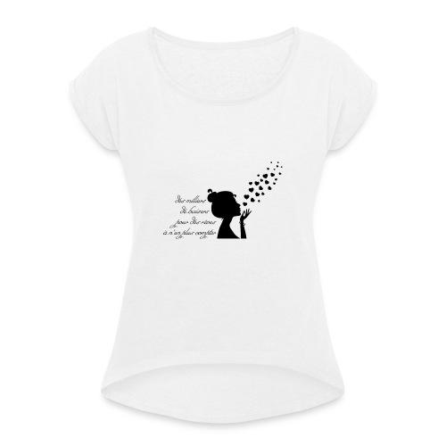 citation des milliers de baiser - T-shirt à manches retroussées Femme
