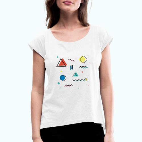 Abstract geometry - Women's T-Shirt with rolled up sleeves